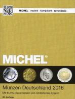 MICHEL Münzen Katalog Deutschland 2016 Neu 27€ DR Ab 1871 III.Reich BRD DDR Numismatik Coins Catalogue 978-3-95402-144-4 - Material Und Zubehör