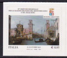 ITALY, 2015, MNH, SEAPOWER SYMPOSIUM, BOATS, GONDOLAS, CANALS, 1v - Barche