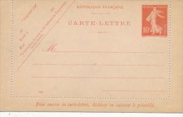 FRANCE - 1906 , Carte Lettre , Kartenbrief - Ganzsachen