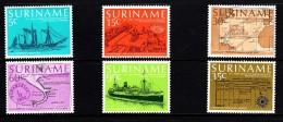Surinam MNH Scott #478-#483 Set Of 6 150th Anniversary Regular Steamer Mail Connection With Netherlands - Surinam