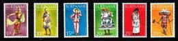 Surinam MNH Scott #524-#529 Set Of 6 Dancing Costumes: Java, Forest Negro, Chinese, Creole, Native Indian, Hindu - Surinam