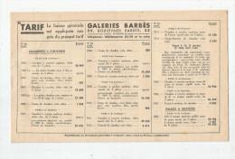 Tarif , Meubles , GALERIES BARBES , Paris , 8 Pages , 2 Scans, Frais Fr : 1.55€ - Factures & Documents Commerciaux