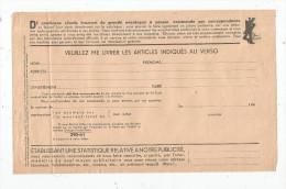 Bon De Commande , Vierge , Meubles , GALERIES BARBES , Paris , 8 Pages , 2 Scans, Année 40 ,  Frais Fr : 1.55€ - Invoices & Commercial Documents