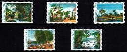 Surinam MNH Scott #583-#587 Set Of 5 Illustrations From 'Voyage To Surinam' By P.I. Benoit - Surinam