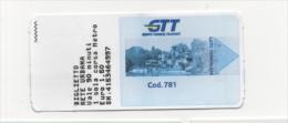 Alt847 Biglietto Autobus Metro Ticket Bus, Billet Torino Turin Piemonte GTT Castello Parco Valentino - Autobus