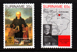 Surinam MNH Scott #598-#599 Set Of 2 Beatification Of Father Petrus Donders - Surinam