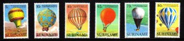 Surinam MNH Scott #655-#660 Set Of 6 Hot Air Balloons - 200th Anniversary Manned Ballooning - Surinam