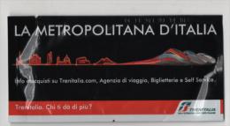 Alt851 Promozionale Fazzoletti Promotional Trenitalia Train Treno High Speed Railway Lines Frecciarossa TGV Italy - Ferrovie