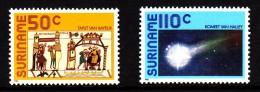 Surinam MNH Scott #747-#748 Set Of 2 Halley's Comet - Surinam