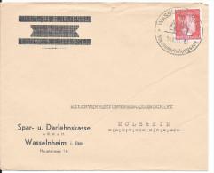 Wasselnheim / Wasselonne, Enveloppe 1943 --> Molsheim, Affr. 12pf Cachet De Propagande - Alsace-Lorraine