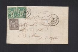 France Facture 1877 Amiens Pour Arras - Poststempel (Briefe)