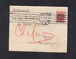 Dt. Reich Brief 1923 EF Berlin Nach Graz - Briefe U. Dokumente