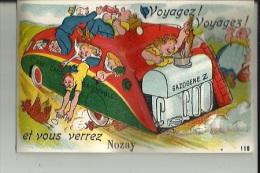 Nozay  44    Carte A Système ( Voyager !  Voyager !  Soulevez Le Couvercle Du Gazogene.. Vous Verrez 10 Vues De Nozay - France