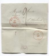 LAC Daté De Beveren 10/2/1847 C.Beveren 10/2/47 Taxée 2 Pour St.Nicolaes C.d'arrivée PR2769 - 1830-1849 (Belgique Indépendante)