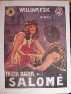Affiche Cinéma Format 21cmx30cm - Salomé - J. Gordon Edwards - Avec Theda Bara, G. Raymond Nye, Albert Rascae - Manifesti