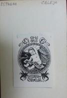 Saturnino CALEJA - ESPAGNE - Ex-libris De 1930 Par Renart - Bébé Lisant - Ex-libris