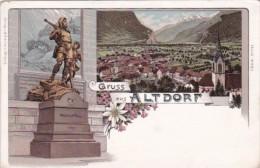 Switzerland Gruss Aus Altdorf Mit Wilhelm Tell Denkmal