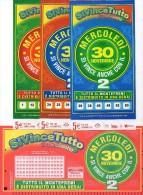 Biglietto Lotteria SUPER ENALOTTO  ...SERIE SPECIALI NOVEMBRE 2011 4 BIGLIETTI DA 5 EURO DA COLLEZIONE - PERFETTO - Non Classificati
