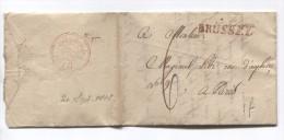 LAC Daté De Bruxelles 10/9/1818 Griffe Brussel Taxée 6 Pour Paris Arrivé Le 20/9/1818 PR2771 - 1815-1830 (Dutch Period)