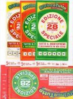 Biglietto Lotteria SUPER ENALOTTO  ...SERIE SPECIALI OTTOBRE 2011 4 BIGLIETTI DA 5 EURO DA COLLEZIONE - PERFETTO - Non Classificati