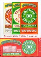 Biglietto Lotteria SUPER ENALOTTO  ...SERIE SPECIALI SETTEMBRE 2011 4 BIGLIETTI DA 5 EURO DA COLLEZIONE - PERFETTO - Biglietti Di Trasporto