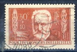 Francia 1936 N. 332 C. 50+10 Hugo Pro Disoccupati Intellettuali Usato Catalogo € 4 - Oblitérés
