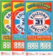 Biglietto Lotteria SUPER ENALOTTO  ...SERIE SPECIALI AGOSTO 2011 3 BIGLIETTI DA 10 EURO DA COLLEZIONE - PERFETTO - Biglietti Di Trasporto