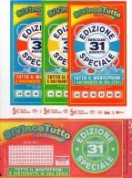 Biglietto Lotteria SUPER ENALOTTO  ...SERIE SPECIALI AGOSTO 2011 4 BIGLIETTI DA 5 EURO DA COLLEZIONE - PERFETTO - Non Classificati