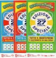 Biglietto Lotteria SUPER ENALOTTO  ...SERIE SPECIALI LUGLIO 2011 3 BIGLIETTI DA 10 EURO DA COLLEZIONE - PERFETTO - Non Classificati