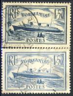 Francia 1935 - 36 Serie N. 299-300 Piroscafo Normandia Usati Catalogo € 22,30 - Oblitérés