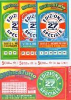 Biglietto Lotteria SUPER ENALOTTO  ...SERIE SPECIALI LUGLIO 2011 4 BIGLIETTI DA 5 EURO DA COLLEZIONE - PERFETTO - Biglietti Di Trasporto