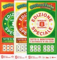 Biglietto Lotteria SUPER ENALOTTO  ...SERIE SPECIALI GIUGNO 2011 3 BIGLIETTI DA 10 EURO DA COLLEZIONE - PERFETTO - Biglietti Di Trasporto