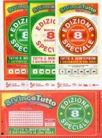 Biglietto Lotteria SUPER ENALOTTO  ...SERIE SPECIALI GIUGNO 2011 4 BIGLIETTI DA 5 EURO DA COLLEZIONE - PERFETTO - Biglietti Di Trasporto