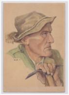 Dt.- Reich (A1410) Propagandakarte Dr. Gabriel Engler, Kärntner Köpfe Kärntner Bergführer, Ungebraucht - Germany