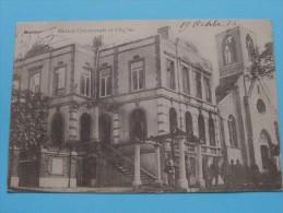 Maison Communale Et L'Eglise BATTICE ( L'Eclipse ) Anno 1914 ( Zie Foto Voor Details ) !! - Herve