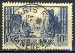 Francia 1929 - 31 N. 261 F. 10 Blu Porto Della Rochelle Usato Catalogo € 7,50 - Gebraucht