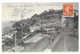 Cpa: ALGERIE - ORAN Promenade De L'Etang (animée, Tramway) 1911 N° 10 - Oran