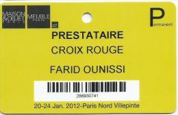 MAISON And OBJET PARIS MEUBLE Card Croix Rouge - France