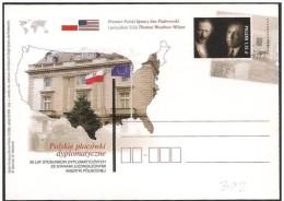 Polonia/Poland/Pologne: Intero, Stationery, Entier, Ignacy Jan Paderewski, Thomas Woodrow Wilson - Célébrités