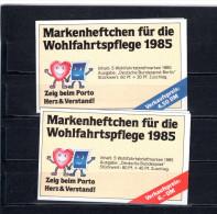 8345 Deutschland Germany Allemagne Priv MH Wohlfahrtspflege 1985 2x Gest. - Selten - - [7] République Fédérale