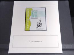 ILE NORFOLK - Bloc Luxe Avec Texte Explicatif - Belle Qualité - À Voir -  N° 11780 - Ile Norfolk