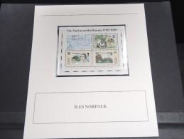ILE NORFOLK - Bloc Luxe Avec Texte Explicatif - Belle Qualité - À Voir -  N° 11781 - Ile Norfolk
