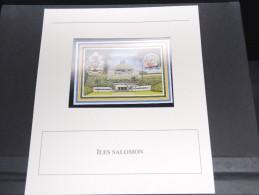 ILES SALOMON - Bloc Luxe Avec Texte Explicatif - Belle Qualité - À Voir -  N° 11787 - Salomon (Iles 1978-...)