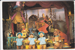 CPSM WALT DISNEY DISNEYWORLD COUNTRY BEARS CURTAIN CALL PAYS DES OURS EN PELUCHE - Disneyworld