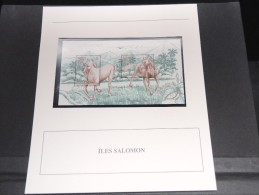 ILES SALOMON - Bloc Luxe Avec Texte Explicatif - Belle Qualité - À Voir -  N° 11788 - Salomon (Iles 1978-...)
