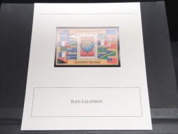 ILES SALOMON - Bloc Luxe Avec Texte Explicatif - Belle Qualité - À Voir -  N° 11790 - Salomon (Iles 1978-...)