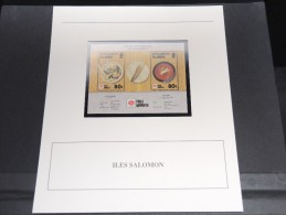 ILES SALOMON - Bloc Luxe Avec Texte Explicatif - Belle Qualité - À Voir -  N° 11791 - Salomon (Iles 1978-...)