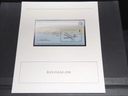 ILES FAKLAND - Bloc Luxe Avec Texte Explicatif - Belle Qualité - À Voir -  N° 11792 - Falkland