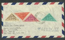BOLIVIA REGISTERED COVER TO USA WITH THE AIR MAIL FARO DE COLON SET. LIGHTHOUSE, - Bolivie