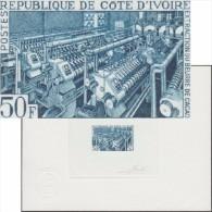 Côte D´Ivoire 1968 Y&T 274. Épreuve D'artiste De Pheulpin. Extraction Du Beurre De Cacao. Machines, Chocolat - Alimentación